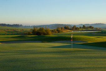 Stimmungsvolle Golfplatz Fotos